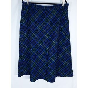 Basic Editions Dresses & Skirts - Blue, Black, and Green Plaid Skirt